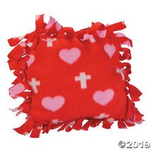 Cross Print Tied Fleece Pillow Craft Kit, Set of 2 - $9.96