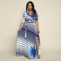 USA Plus Size Elegant Bohemian Floral Formal Evening Split Maxi Dress 14... - $29.99