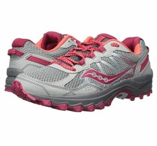 Saucony Excursion TR11 Women's Running Shoes Wide Grey/Pink - $32.55