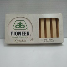 Pioneer Brand Products Coasterstone Set Four Coasters & Wood Stand Never... - $23.89