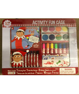 THE ELF ON THE SHELF ART & CRAFT SET ACTIVITY FUN CASE MARKERS CRAYONS P... - $14.84