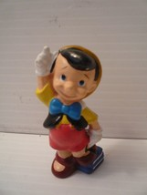 "Vintage Pinocchio hard plastic 3"" Figure With Books going to School - $9.89"