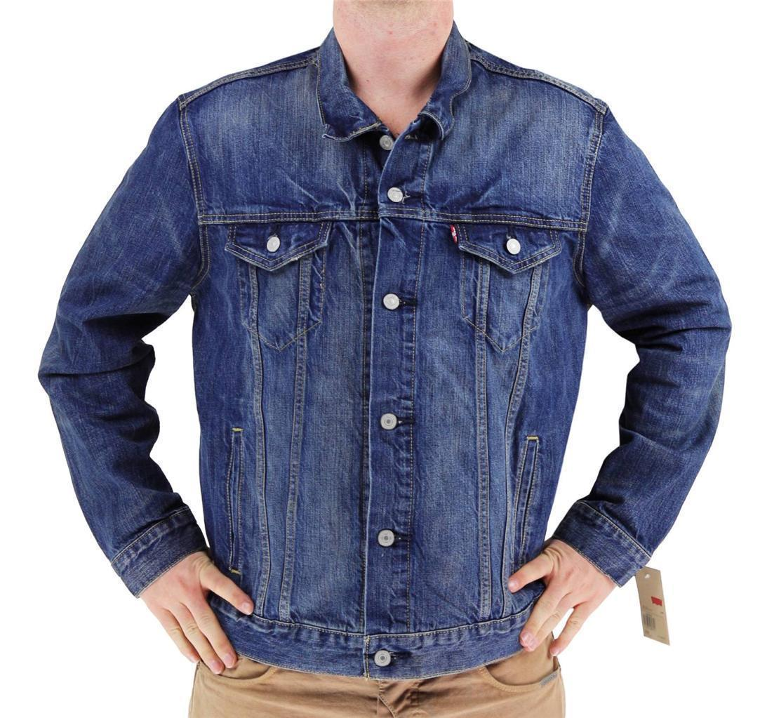 NEW LEVI'S MEN'S PREMIUM BUTTON UP DENIM JEANS JACKET TWO COLOR 723350009