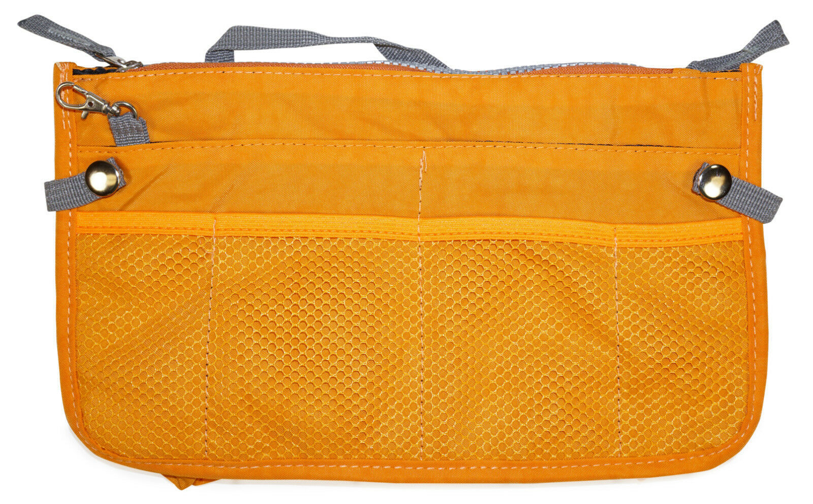 Orange Multi Pocket Purse Handbag Organizer Insert Womens Ladies Zippered