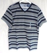 American Rag Juniors XL Tee V-Neck T-Shirt All-Over Striped Pattern Summ... - $16.82