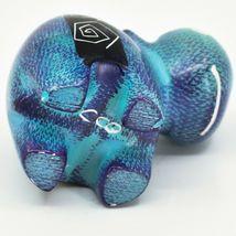 Crafts Caravan Soapstone Purple & Blue Hippopotamus Hippo Figurine Made Kenya image 5