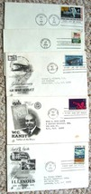 5 First Day Covers Official Cachets, 1st Moon Landing, Inauguration Day,... - $7.87