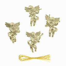 Darice Christmas Cherub Ornament: Gold, 1 x 1.75 inches, 4 pieces w - $6.99
