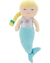 """NWT Carters Plush Toy Stuffed Doll Mermaid Blonde 10"""" Fish Tail Glitter Scales - $21.99"""