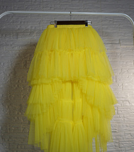High Low Tulle Skirt Long Layered Tutu Skirt Outfit Plus Size  Brown Tulle Skirt image 9