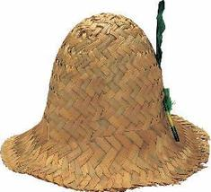 STRAW HILLBILLY HAT WITH FEATHER - $9.00