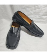 Tods Black Loafers Black Leather Slip On USA size 8 EUR 38 Rubber Sole - $247.50