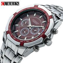 Top Brand Luxury Watch CURREN Casual Military Quartz Sports Wristwatch Full - $13.64