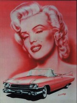 Marilyn Monroe with Cadillac Metal Sign - $29.95