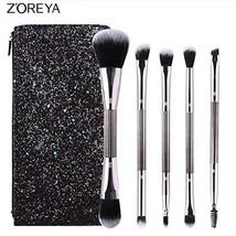 ZOREYA Double-Headed Makeup Brush Set with Sparkling Pailette Portable B... - $16.35