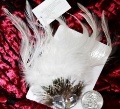 White Burlesque Feather Tribal Belly Dance Dancing Cosplay Gothic Hair C... - €3,53 EUR