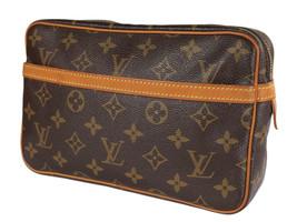 LOUIS VUITTON Compiegne 23 Monogram Canvas Pouch Clutch Bag LP4117 - $249.00