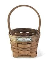 Longaberger 1989 Inaugural Handmade Basket - $8.81