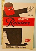 1958 Seattle Rainiers Minor League Baseball Program Scored vs Reds #CH - $68.31