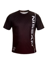 Nissan Black Red Points Car Short Sleeve Cool T Shirt Auto Car Graphics Tee - $24.75