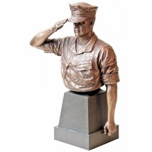 "USMC Trooper Hail and Farewell Bust 8"" Statue - $59.39"