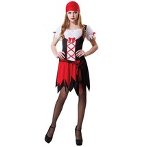 NEW WOMENS TOTALLY GHOUL PRETTY PIRATE HALLOWEEN COSTUME DRESS SIZE L/XL - $17.59