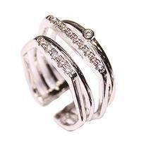 Clover Diamond Ring Simple Wild Fashion Unique Ladies Accessories Concise Style