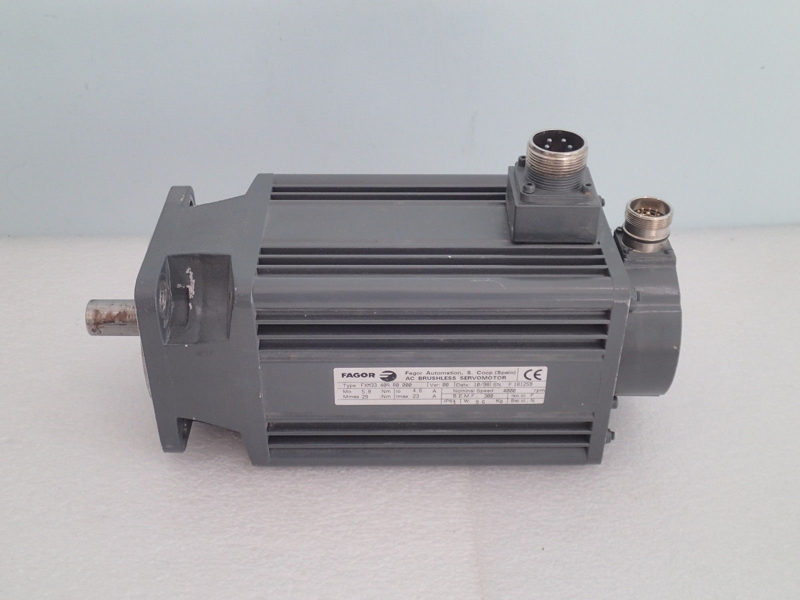 Warranty Fagor Ac Brushless Servo Motor and 50 similar items
