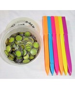 LOT 6 magnetic wands bingo chips teacher math resource manipulatives - $22.27