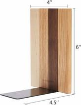 Pandapark Decorative Wood Bookends, 1 Pair, American Dream image 2