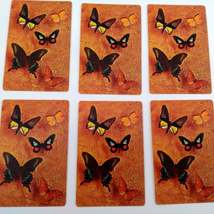 Set of 6 Butterfly Playing Cards for crafting collage repurpose upcycle trading  image 3