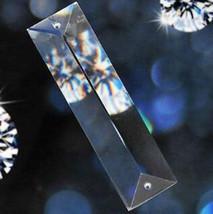 100Pcs Clear Chandelier Glass Crystal Lamp Prism Part Hanging Drop Pendants 76mm - $76.38