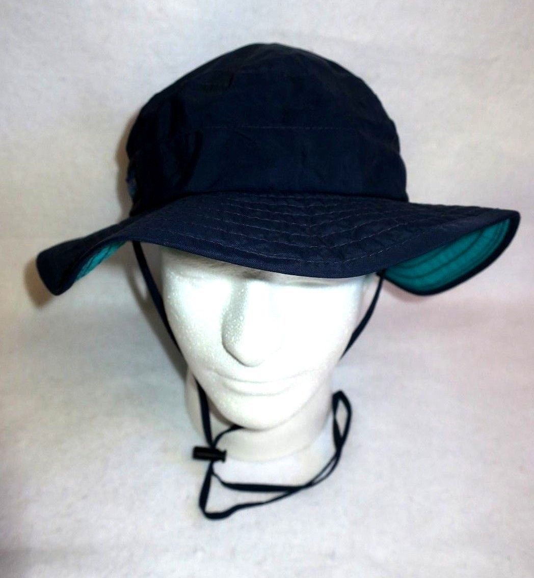 Columbia Safari Wide Bucket Sun Hat Nature Outdoors Navy Blue L Large USA Made