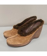 Carlos by Carlos Santana Brown Suede Slip on Mules Size 9.5 Shoes Casual... - $38.90