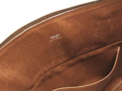 HERMES Bolide 35 Vibrate Brown Handbag Shoulder Bag #D Authentic 5473007 image 10