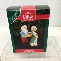 1992 Mr and Mrs Claus #7 Gift Hallmark Christmas Tree Ornament MIB Price... - $12.38