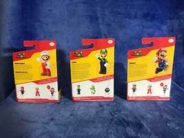 NEW Set of 3 - Super Fire Mario, Super Mario Luigi, Super Mario 2.5 inch Figures - $18.86