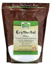 100% Pure Erythritol Crystalline Now Foods 2.5 lbs Granules - $19.20