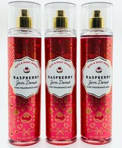 3-Pack Bath Body Works Raspberry Jam Donut Fine Fragrance Mist Spray 8 f... - $39.55