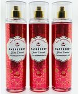 3-Pack Bath Body Works Raspberry Jam Donut Fine Fragrance Mist Spray 8 f... - $39.55