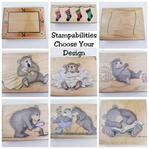 Stampabilities Wood Mounted Stamps Scrapbook Crafting Choose From Designs!  - $9.74
