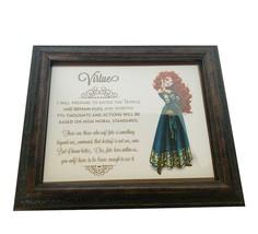 Walt Disney The Brave Framed Picture Merida Virtue print litho art 12X10... - $38.65