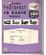 Sams Photofact CB Radio CB-160 January 1978 - $1.75