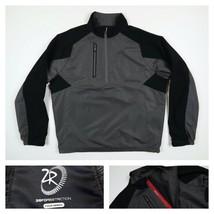 Zero Restriction Mens Tour Series Gray Golf Rain 1/4 Zip Pullover Jacket... - $64.99