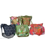 5 Boho Bags Wholesale Lot Indian Gypsy Sequins Handmade India 595 - $37.05