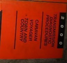 2000 Plymouth Voyager Transmission Diagnostic Procedure Manual Oem - $8.13