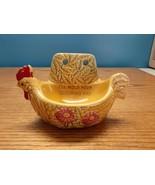Vintage Ceramic Chicken Rooster Scrub Scouring Pad Holder  - $14.85