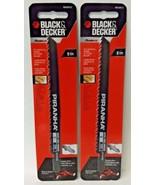 "Black & Decker BDA0012 6"" x 6 TPI Wood Cutting Piranha Saw Blade 2PKS - $3.96"