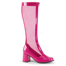 "FUNTASMA Gogo-307 Series 3"" Block Heel Knee-High Boots - HotPink Str Pat... - $39.95"