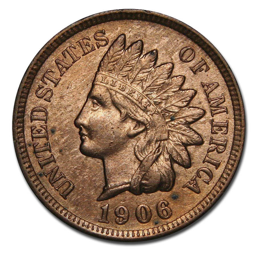 1906 One Cent Indian Head Penny Coin Lot# A 825